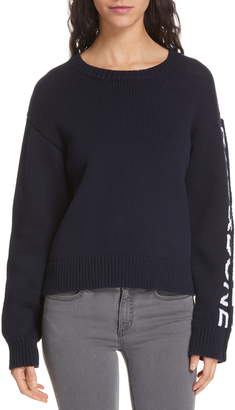 Rag & Bone Rayland Branded Shaker Crewneck Sweater