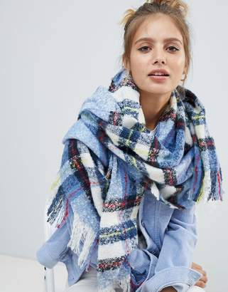 Monki check scarf