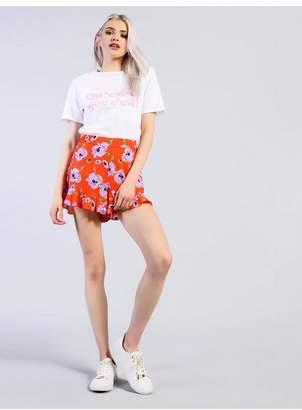 Glamorous **Floral Ruffle Shorts by Petites