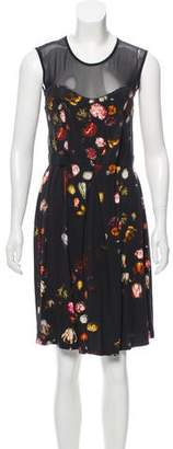 Marios Schwab Floral Knee-Length Dress
