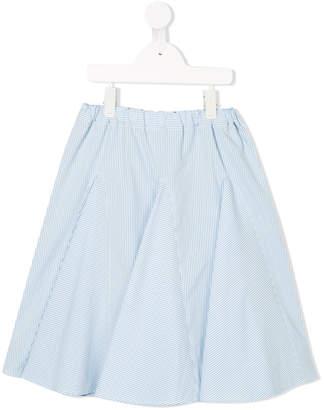 Familiar striped pleated skirt