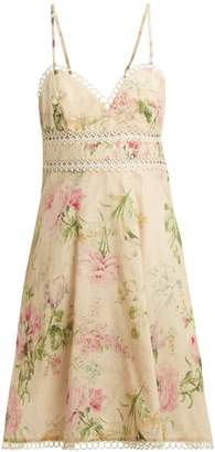 Zimmermann Iris floral-print linen-blend dress