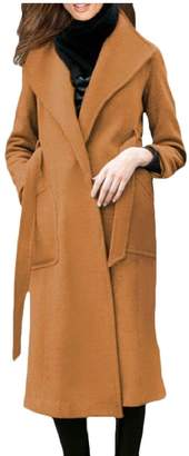 Blend of America omniscient Womens Lapel Wool Blend Winter Fall Warm Coat Overcoats 20 XL