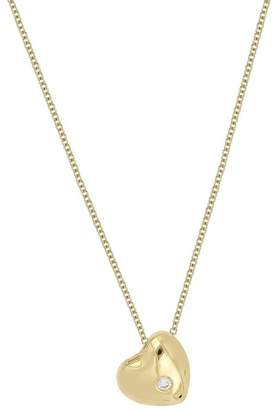 Bony Levy 18K Yellow Gold Diamond Accent Heart Pendant Necklace