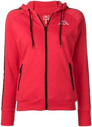 Kappa side logo stripe zip hoodie