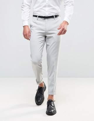 Asos Skinny Smart Trousers In Light Blue