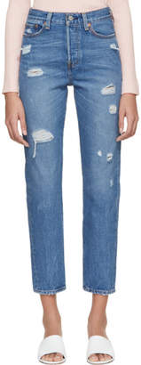 Levi's Levis Blue Wedgie Icon Jeans