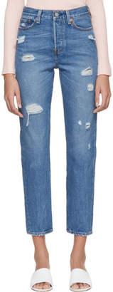Levi's Levis Blue Wedgie Icon Jeans