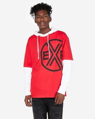 Express Heavyweight Oversized Short Sleeve Exp Graphic Tee