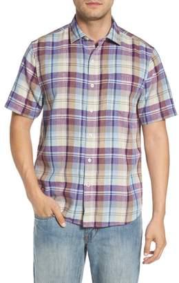 Tommy Bahama La Paz Plaid Linen Blend Sport Shirt