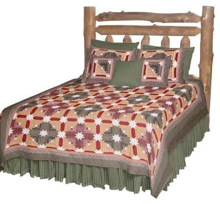 Patch Magic QKSFLC Snowflake Log Cabin, Quilt King 105 x 95 inch