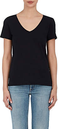 Barneys New York Women's Pima Cotton V-Neck T-Shirt - Black