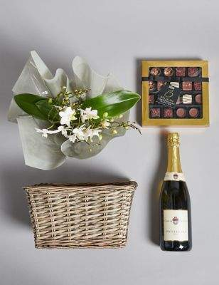 Marks and Spencer Contemporary Prosecco, Belgian Chocolates & Orchid Hamper