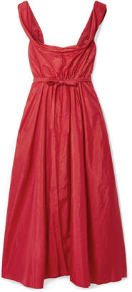 Brock Collection Davi Off-the-shoulder Taffeta Midi Dress - Red