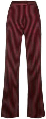 Pinko striped flared trousers