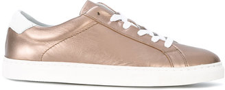 Tommy Hilfiger metallic sneakers $144.66 thestylecure.com
