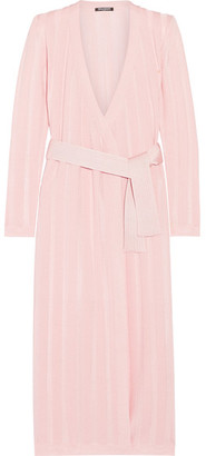 Balmain - Paneled Stretch-knit Cardigan - Pastel pink $2,325 thestylecure.com