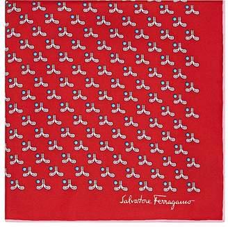 Salvatore Ferragamo Men's Elephant- & Golf-Motif Silk Pocket Square
