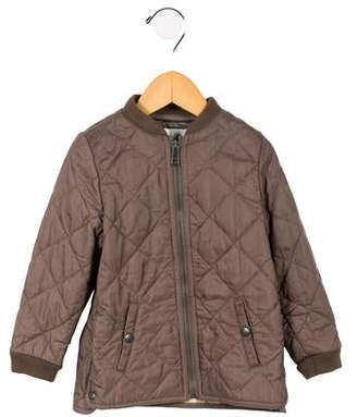 Burberry Girls' Quilted Zip-Up Jacket