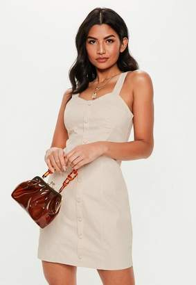 Missguided Bust Cup Twill Mini Dress