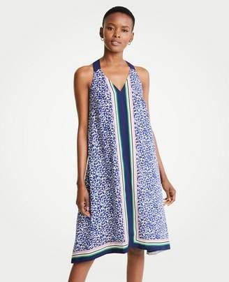 Ann Taylor Petite Border Strappy Midi Dress