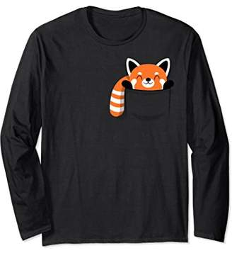 Funny Red Panda pocket - long Sleeve t-shirt