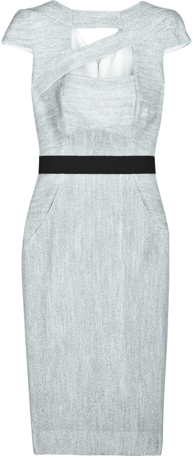 Victoria Beckham Cutout tweed dress