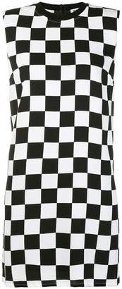 Versus flared checked dress