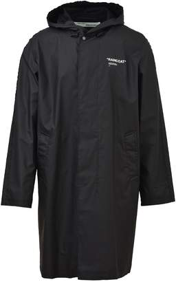 Off-White Off White Black Quote Raincoat