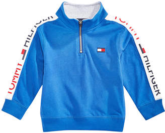 Tommy Hilfiger Baby Boys Cotton Half-Zip Sweatshirt