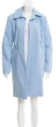 Trademark Gingham Knee-Length Coat