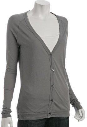 LnA ash cotton button front cardigan