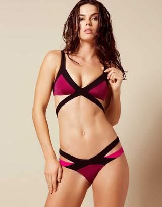Agent Provocateur Mazzy Bikini Brief Burgundy