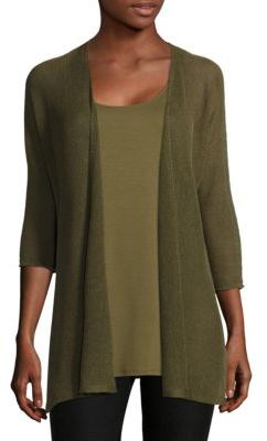 Eileen Fisher Kimono Linen Cardigan $188 thestylecure.com