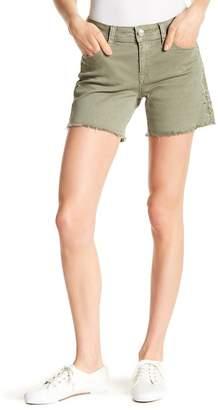 Grace In LA Denim Easy Fit Solid Shorts