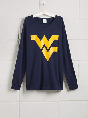 PINK West Virginia University Long Sleeve Grommet Campus Tee