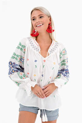 Sunseeker Free the Roses Finley Blouse