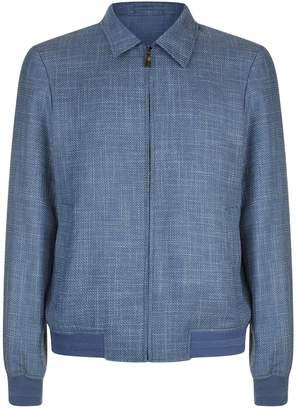 Pal Zileri Collared Blouson Sleeve Jacket