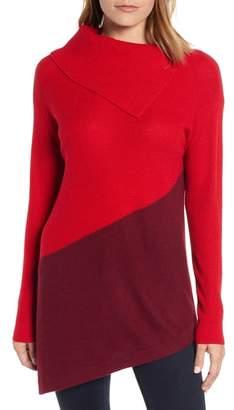 Vince Camuto Asymmetrical Colorblock Tunic Sweater