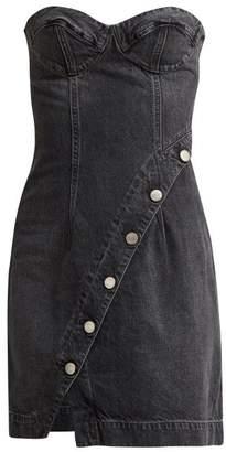 Atelier Jean Claudia Buttoned Denim Dress - Womens - Grey