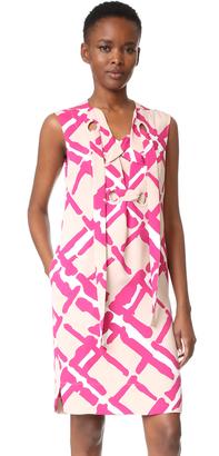 Derek Lam Sleeveless Lace Up Dress $1,295 thestylecure.com