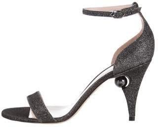 Nicholas Kirkwood Glitter High-Heel Sandals w/ Tags