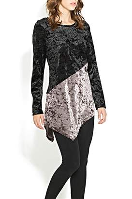 Adore Velvet Diagonal Top