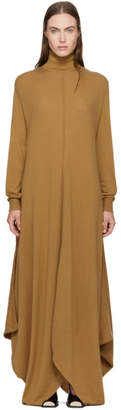 Stella McCartney Tan Wool Turtleneck Dress