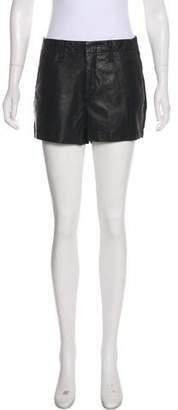 Rag & Bone Hyde Portobello Leather-Accented Shorts
