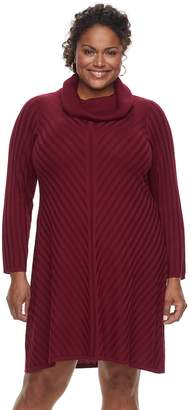Dana Buchman Plus Size Mitered Sweater Dress