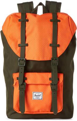 Herschel Forest & Vermillion Orange Little America Mid Backpack