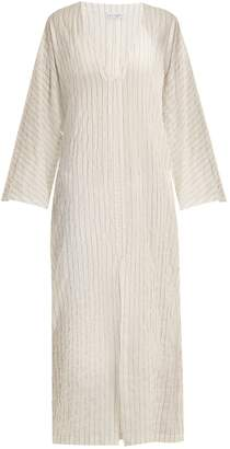 Raey Kimono-sleeve striped sheer-cotton beach dress