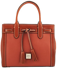 Dooney & Bourke Pebble Leather Ariel Satchel $188 thestylecure.com