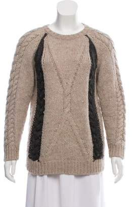 Chinti and Parker Cable Knit Wool-Blend Sweater